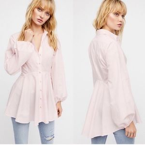 FREE PEOPLE Button Front Tunic